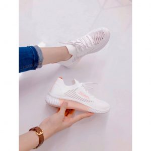 Sneaker Vải Dệt Đen & Trắng – 5283